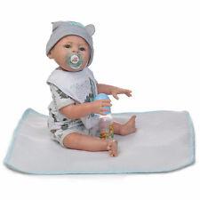 22-Inch Reborn Silicone Baby Dolls Boy Girl Vinyl Baby Doll Newborn Sleep Dolls