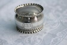 Vintage two solid silver napkin rings, Birmingham 1938, engraved, 53g total.