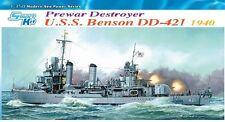 1/350 USS Benson (DD-421) 1940 pre-war Destroyer - Dragon #1034 Smart Kit