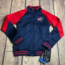 NHL Girls Youth Small 7/8 Columbus Blue Jackets Fill Zip Track Jacket NEW
