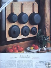 PUBLICITÉ 1979 LE CREUSET L'ENSEMBLE DE CASSEROLES MAMA - ADVERTISING