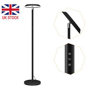 Modern 180cm Dimmable Floor Light Standard Lamp Adjustable Neck Design Metal LED