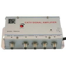 BK 76BAVS4 CATV 4-Way Cable TV Signal Booster Amplifier Splitter