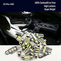 23PCS/Kit LED White Car Light Bulb Interior Map Dome Trunk License Plate Lamps