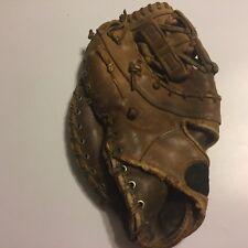 """Vtg Wilson Lht First Baseman's Mitt Glove Leather Made Usa Flaws 13"""""""