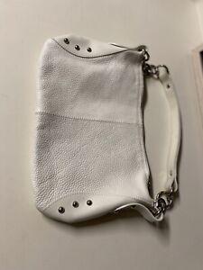 Furla Leather Shoulder Bag Handbag Pebble Leather White