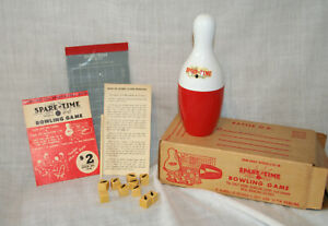 Vintage Spare-Time Bowling Game Org Box Spare Strike 50s - 60s