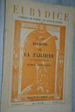 Eurydice / Cahiers de poésie et d'humanisme / Au poète Raymond de la Tailhède