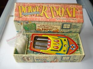 * TIN REPRODUCTION POWER BOAT *  Speed 1 Candle power