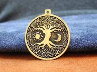 Yggdrasil Rune amulet, Viking Tree of Life, Sun Moon, Sacred Tree, talisman