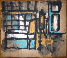 Jeff Friboulet gouache sur papier signée art abstrait abstraction Normandie