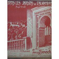 BENECH Louis in die Gärten von l'Alhambra Piano 1923 Partitur sheet music sco