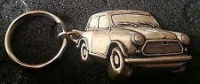Mini Schlüsselanhänger Austin silbern relief - Maße Fahrzeug 48x31mm
