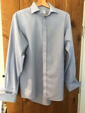 Charles Tyrwhitt shirt, non iron.  Blue and white. neck 15.5 in sleeve 35 in VGC