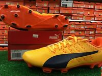 New In Box Puma EvoPOWER VIGOR 4 FG Yellow / Orange Soccer Cleats Size 10.5 New