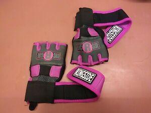 Ringside Gel Shock Women's Boxing/MMA Handwraps - Pink/Black - small