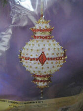 Christmas Sunrise Holiday Tree Ornament Kit,Ruby,Sequins,Beads,Ma kes 4,#510094