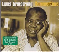 LOUIS ARMSTRONG - SUMMERTIME on 2 CD's - NEW -