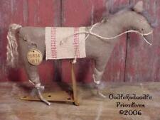 Primitive Folk Art Horse Make Do Table Topper Pattern