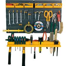 Garage tool rack mur kit stockage outils organisateur 19 peg board crochets & open bacs