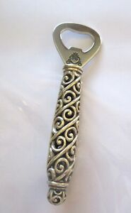 Bighton Bottle Opener silver color- heart- swirl design-