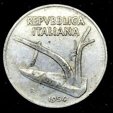 1954 - R Italy 10 Lire Aluminum Uncirculated Coin KM # 93  #2