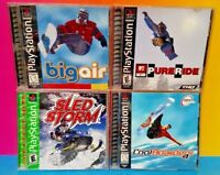 Sled Storm Big Air Pure Ride Cool Boarders Racing Playstation 1 2 PS1 PS2 Games