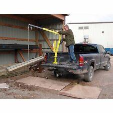 Hand Crank Steel Crane - 2,000 lbs Cap - Truck or Trailer Bed Mounted - 360 Deg