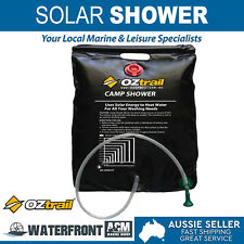 OZtrail Portable Pioneer Solar Shower Bag Outdoor Camping Hiking Water Heated