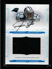 JONATHAN STEWART 2008 NATIONAL TREASURES GAME USED WORN JERSEY AUTO #/99 AX5217