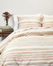 HUGO BOSS BEACON FULL QUEEN DUVET COVER STRIPED Blush Peach