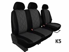 PEUGEOT BOXER 2+1 FROM 2014  ECO LEATHER SEAT COVERS HIGH QUALITY EMBOSSED