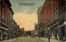 New Bedford MA Union St. West c1910 Postcard