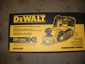 "DeWALT DCP580B 20-Volt Cordless Planer 15,000 Rpm 5/64"" Cutting Depth Li-Ion NEW"