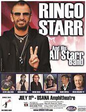 RINGO STARR 2012 SALT LAKE CITY CONCERT TOUR POSTER-Beatles, Todd Rundgren, Toto