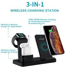 3 in 1 Oi Wireless Fast Charging Charger Holder Dock Stand  iPhone Watch Airpods