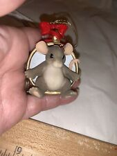 Charming Tails A Cup of Christmas Cheer Mouse Ornament