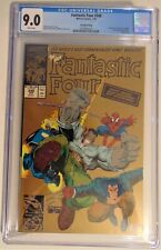 Marvel Fantastic Four #348 CGC 9.0 White Pages 2nd Printing Gold Cover RARE 1991