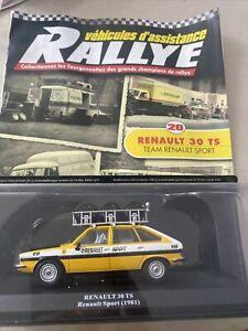 Véhicule D'assistance Rallye Altaya 1/43 Renault 30 TS Team Renault Sport
