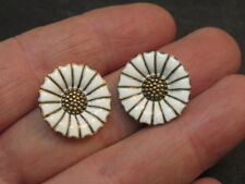 danish Enamel sterling Silver Earrings
