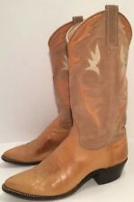DAN POST Women's Buckskin Genuine Leather Western Cowboy Boots 7 M