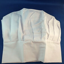 Chefs hat chef white fabric fancy dress cotume dress up adult size unisex New