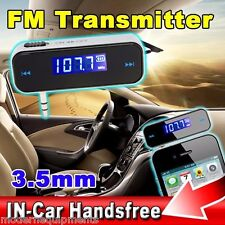 3.5mm FM Transmitter for Car for iPhone iPod Mobile MP3 MP4 Player Audio Device