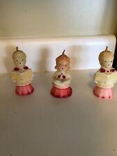 Vtg Gurley Christmas Candle Carolers Choir Singers Boys Girls Set 3 Lot Old