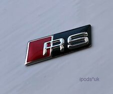 GLOSS BLACK RS STEERING WHEEL SELF ADHESIVE BADGE AUDI RS3 RS4 RS5 RS6 RS7 TTRS