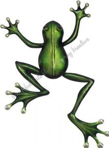 Frog Metal Outdoor Wall Art Patio Garden Indoors Decor Plaque Animal FREE POST