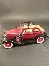 """Franklin Mint Precision Models """"Bonnie & Clyde's 1932 Ford V-8 Scale 1:24 IOB"""