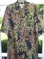 Tori Richard S/S 100% Imported Cotton Lawn Floral Hawaiian Camp Shirt Large USA