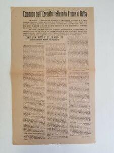 ZOLI, Corrado: ON. NITTI GIUOCATO NELLE TRATTATIVE, volantino Fiume 1921