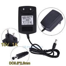 EU-Stecker Netzteil Netzadapter AC100-240V auf/zu DC15V 1A Adapter 5.5mm X 2.5mm